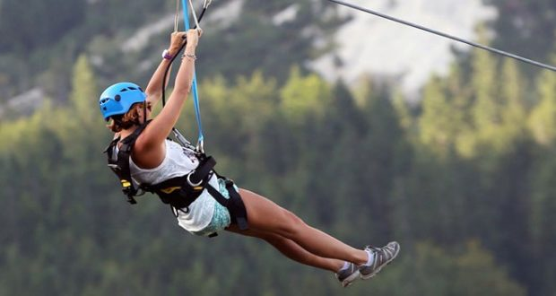 Zip Line Through Idaho's Mountains